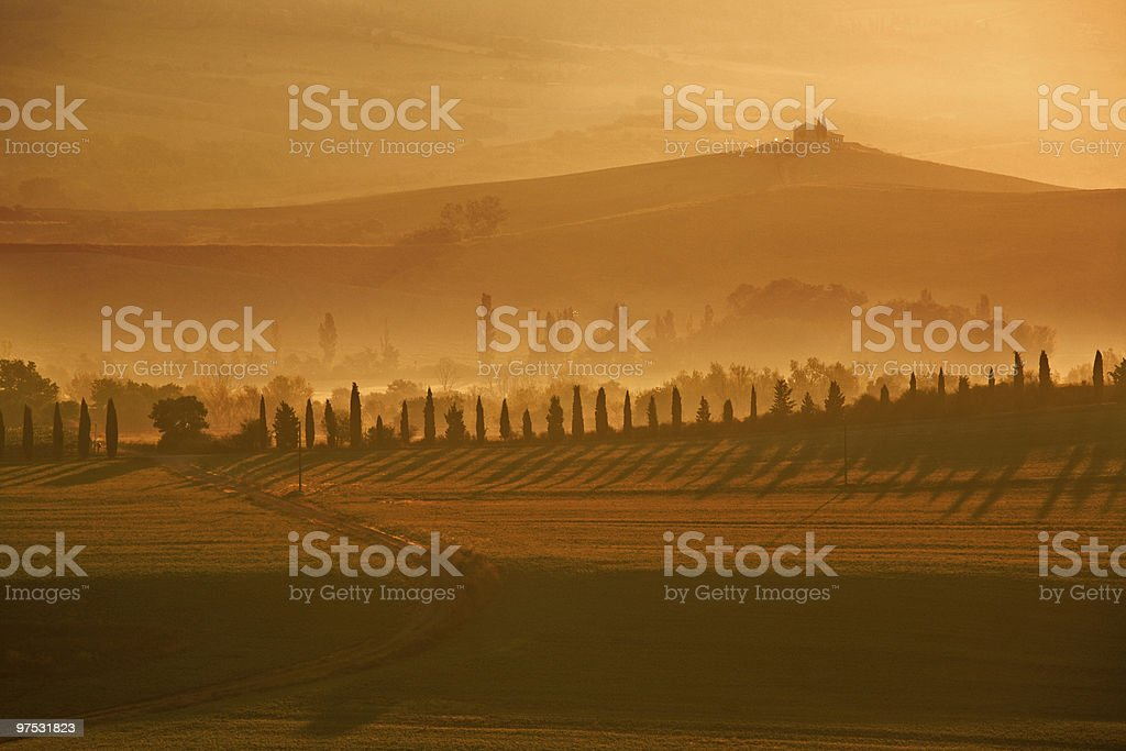 sunrise in the tuscany royalty-free stock photo