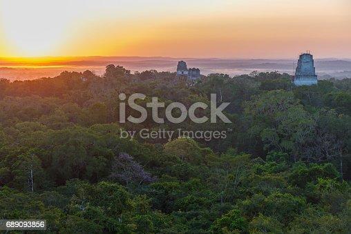 istock Sunrise in Tikal 689093856