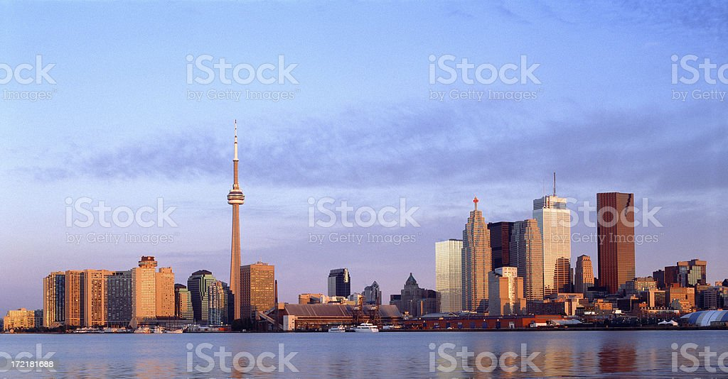 Sunrise in Toronto royalty-free stock photo