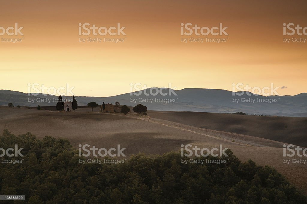 Sunrise in Tuscany, Italy royalty-free stock photo