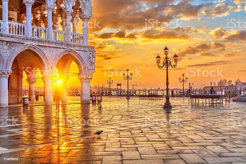Sunrise in Venice stock photo