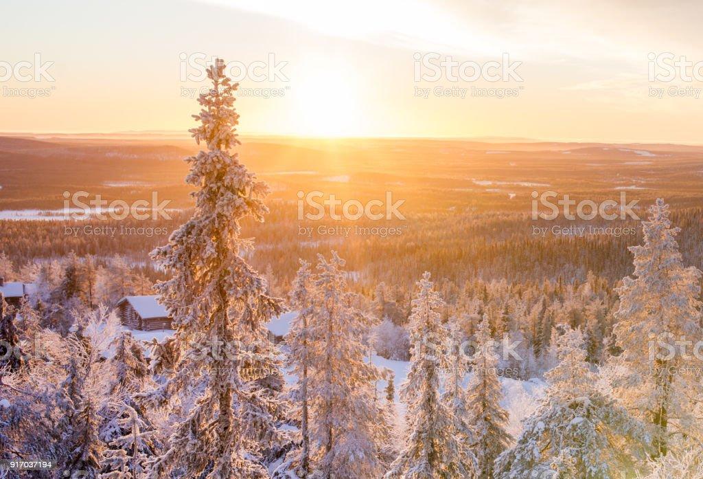Sonnenaufgang im Winter-Wunderland – Foto
