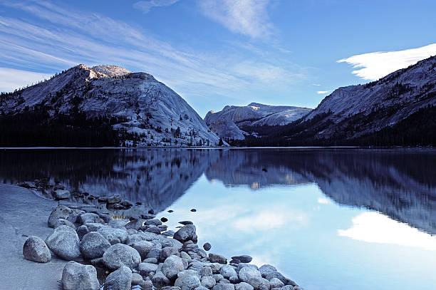 Sunrise in Yosemite National Park stock photo