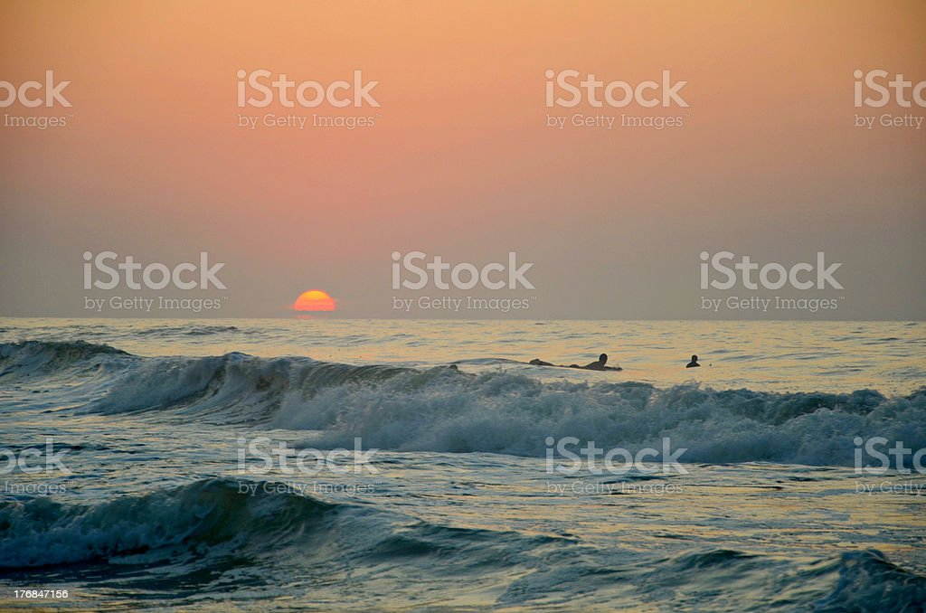 Sunrise it sea royalty-free stock photo
