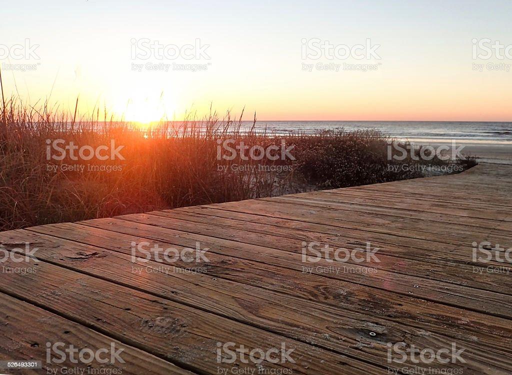 Sunrise - Kiawah Island, South Carolina stock photo