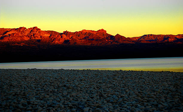 Sunrise, Lake Mohave - Searchlight, Nevada, USA stock photo