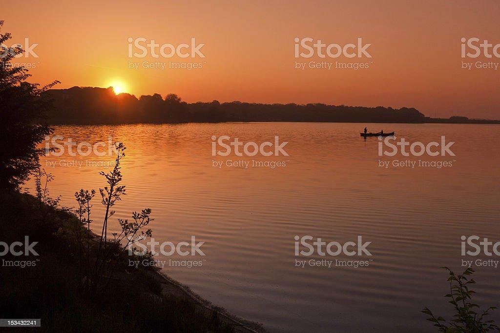 sunrise lake royalty-free stock photo
