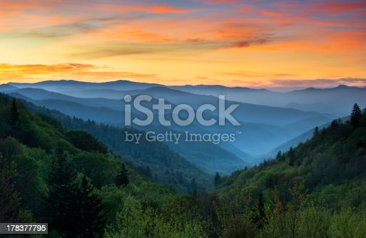 istock Sunrise Landscape Great Smoky Mountains National Park Gatlinburg TN 178377795