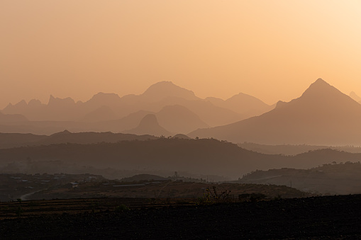 istock Sunrise landscape Simien mountain Ethiopia 1180164583