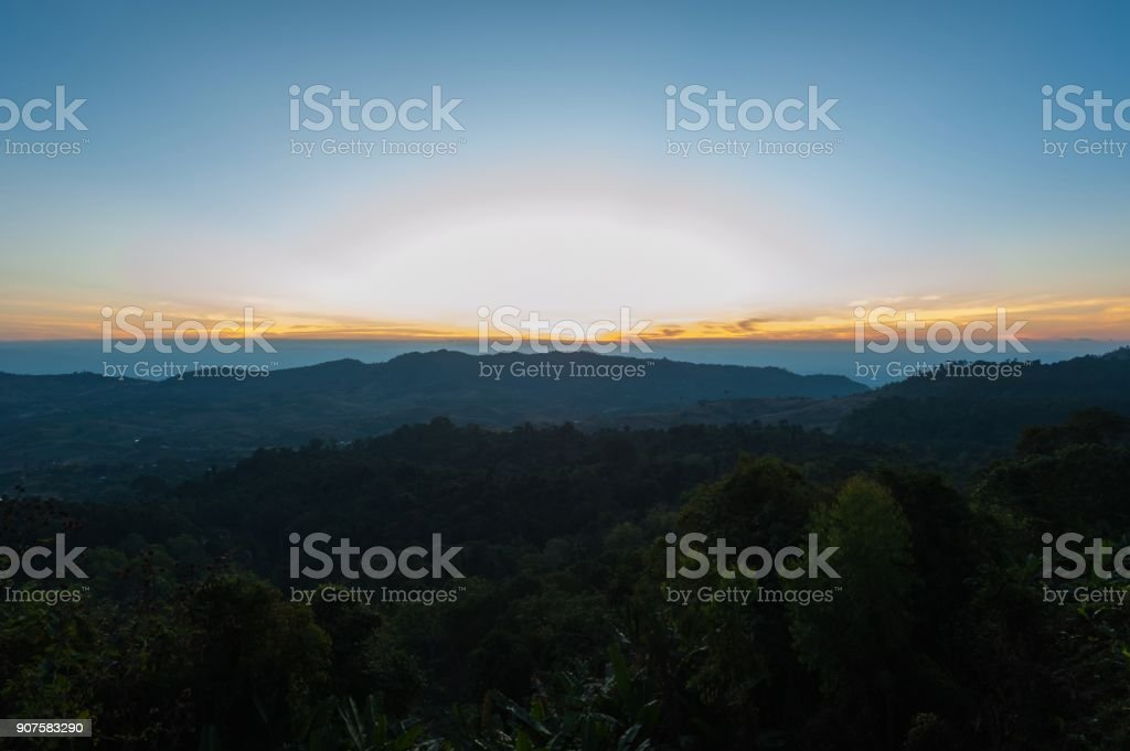 Sunrise light morning stock photo