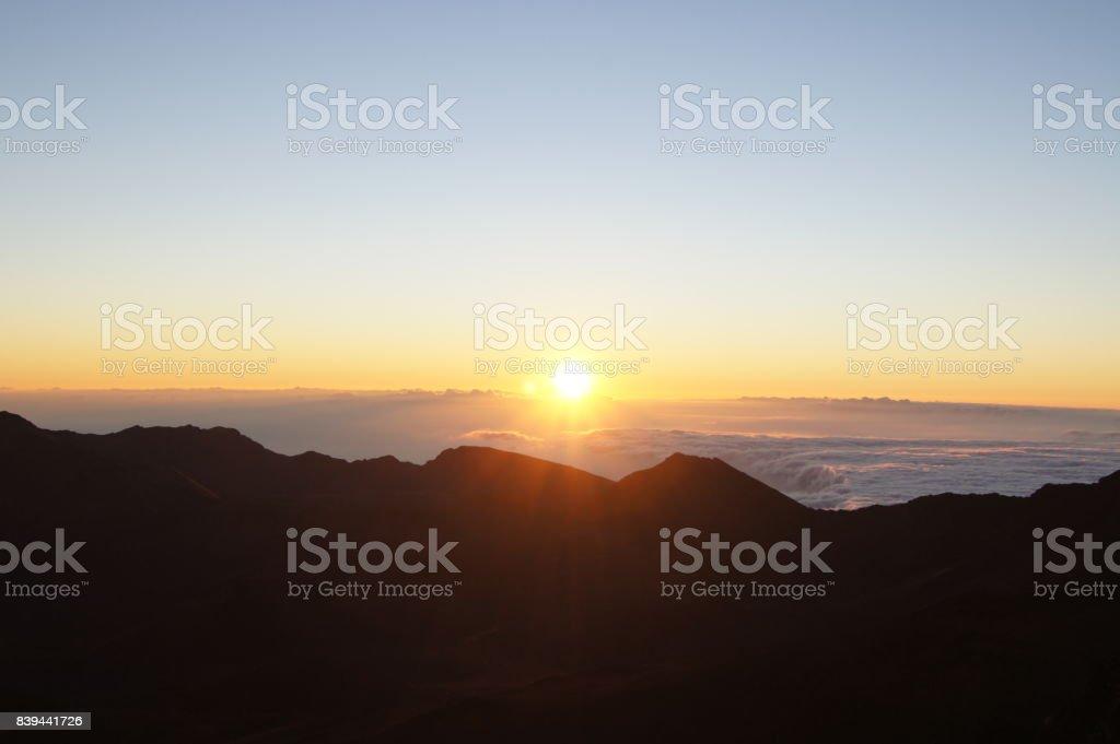 Sunrise Maui stock photo