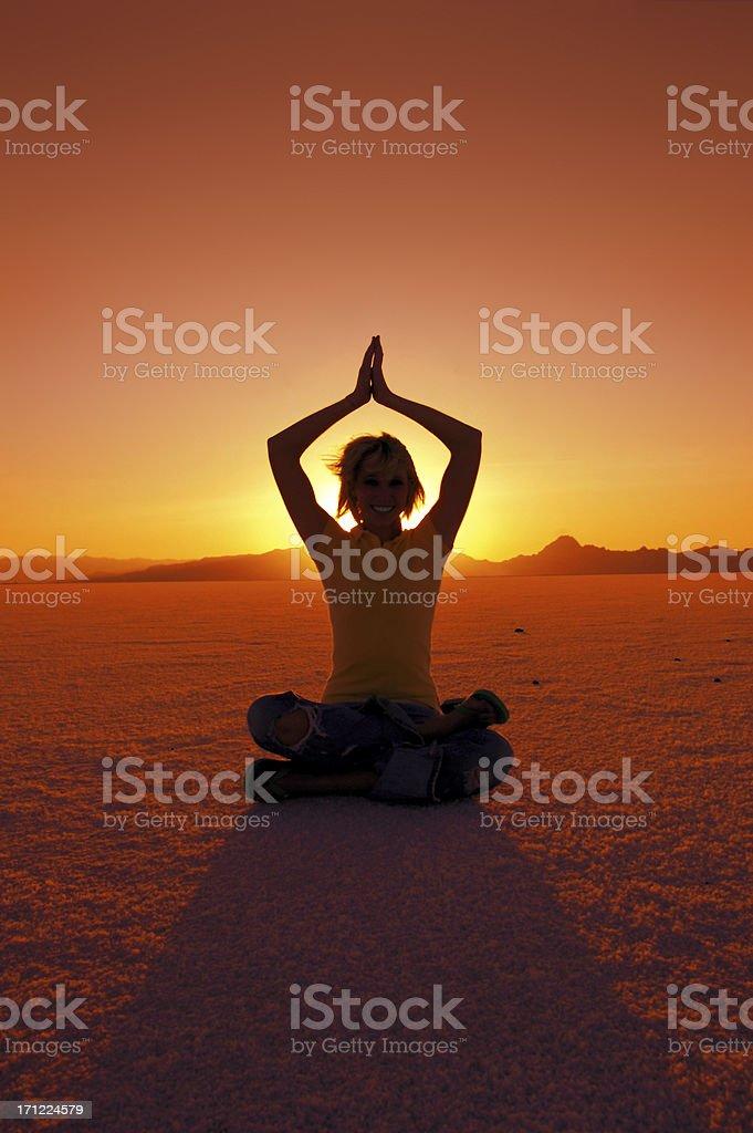 Sunrise Meditation stock photo