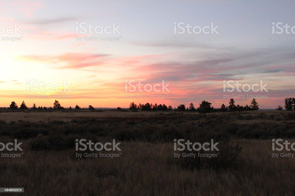 Sunrise - Missouri Breaks stock photo