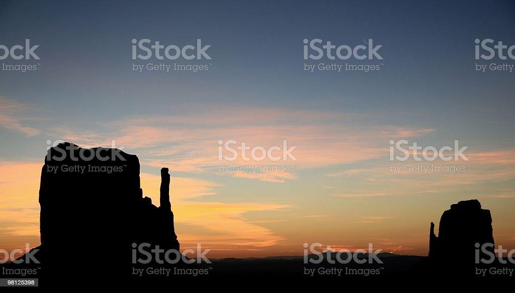 Sunrise, Monument Valley, Arizona, Southwest USA royalty-free stock photo