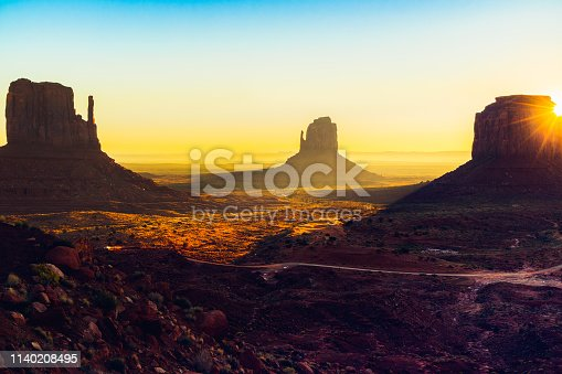 Beautiful Sunrise in Monument Valley Navajo Tribal Park