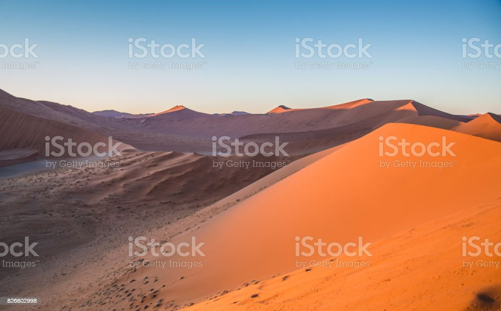 Sunrise morning view from dune 45 stock photo
