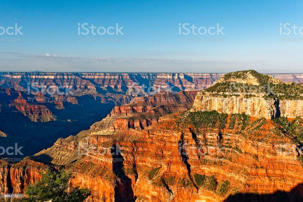Sunrise, North Rim of the Grand Canyon stock photo
