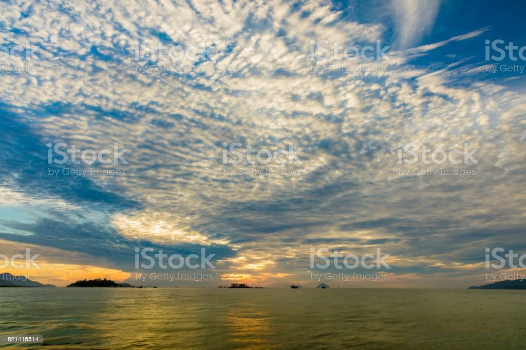 Sunrise Ocean View Nha Trang Vietnam stock photo