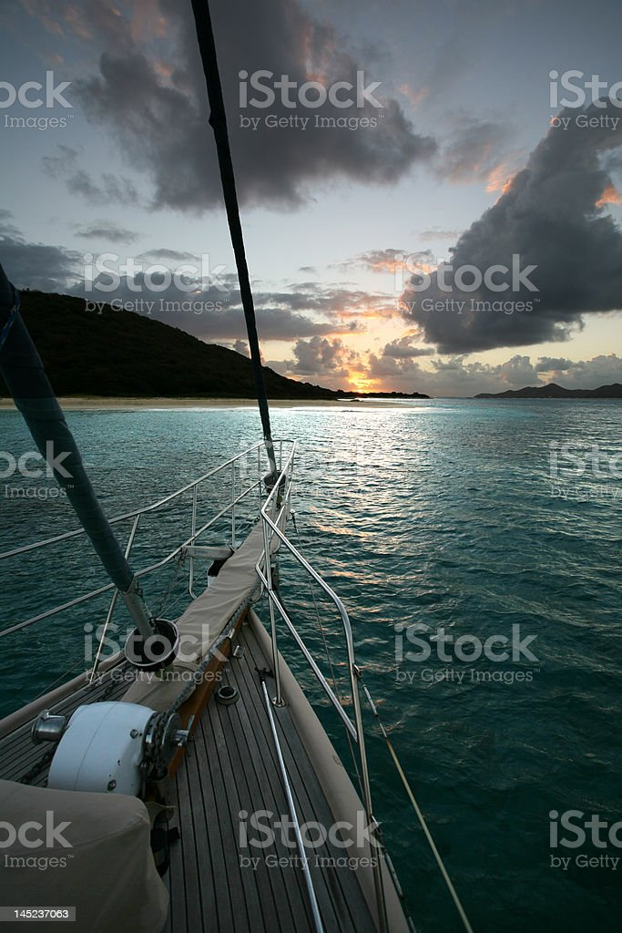 Sunrise off Buck Island US VI stock photo