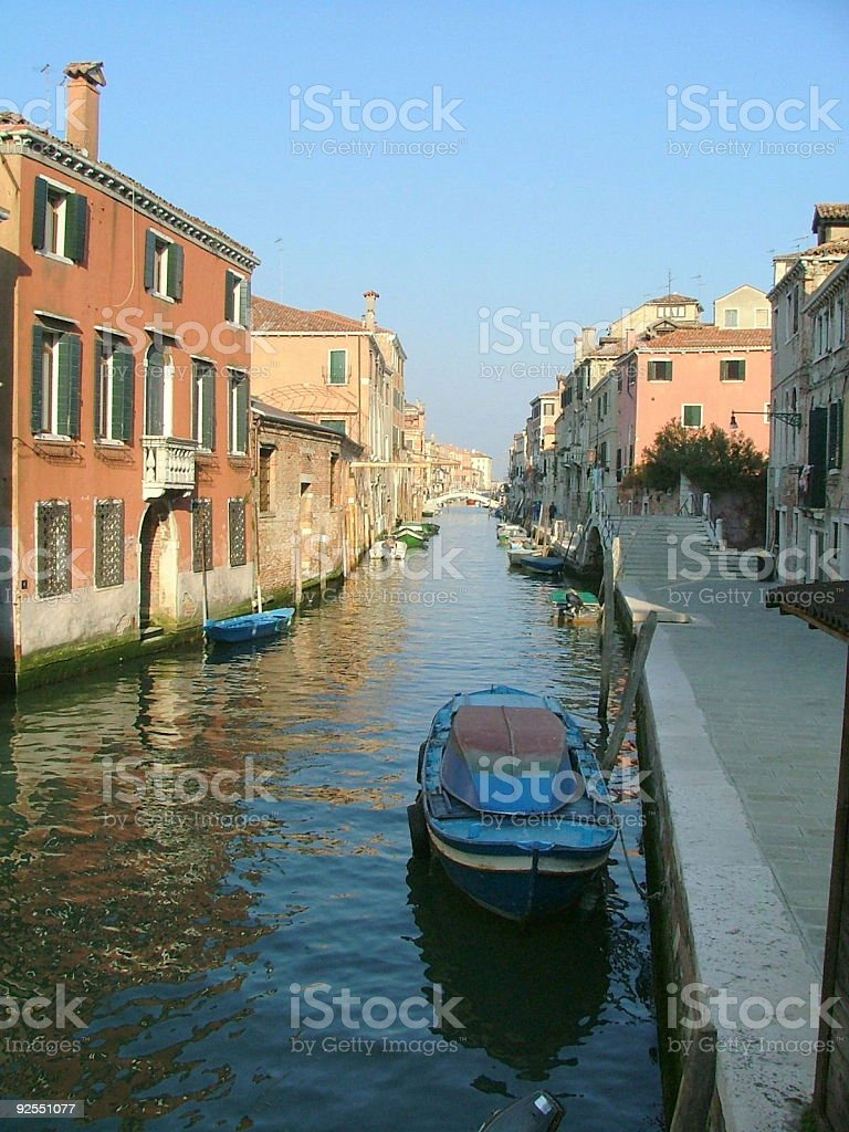 Sunrise on a  Canal inVenice royalty-free stock photo