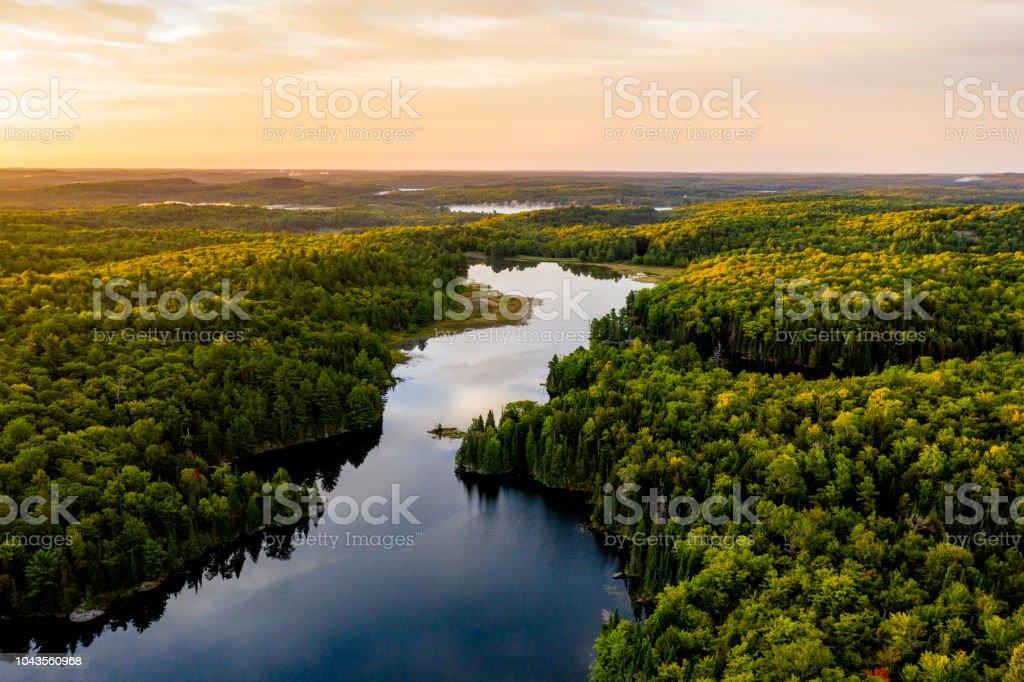 Sunrise on a lake royalty-free stock photo