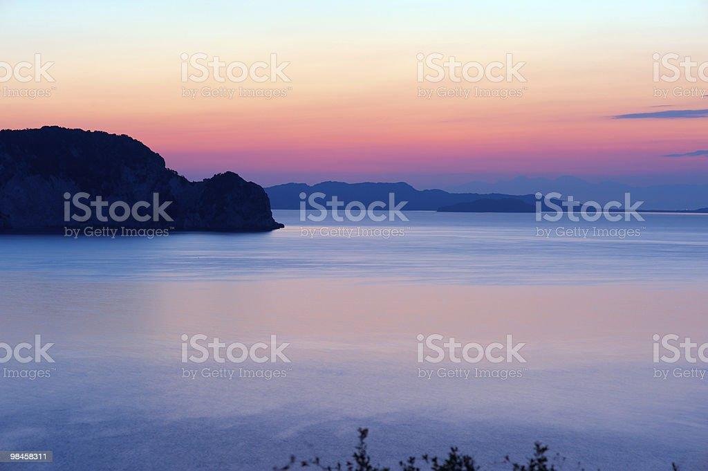 Sunrise on a sea. royalty-free stock photo