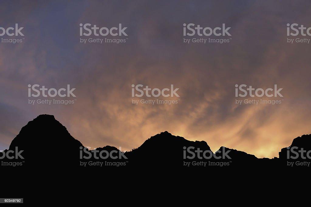 Sunrise on Fire royalty-free stock photo