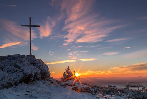 sunrise on great arber mountain - bayerischer wald bildbanksfoton och bilder