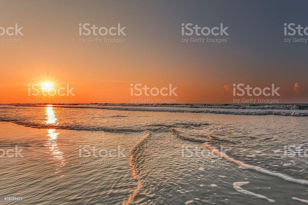 Sunrise on Hilton Head Island stock photo