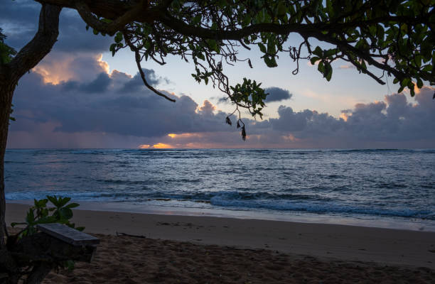 Sunrise on Kauai stock photo