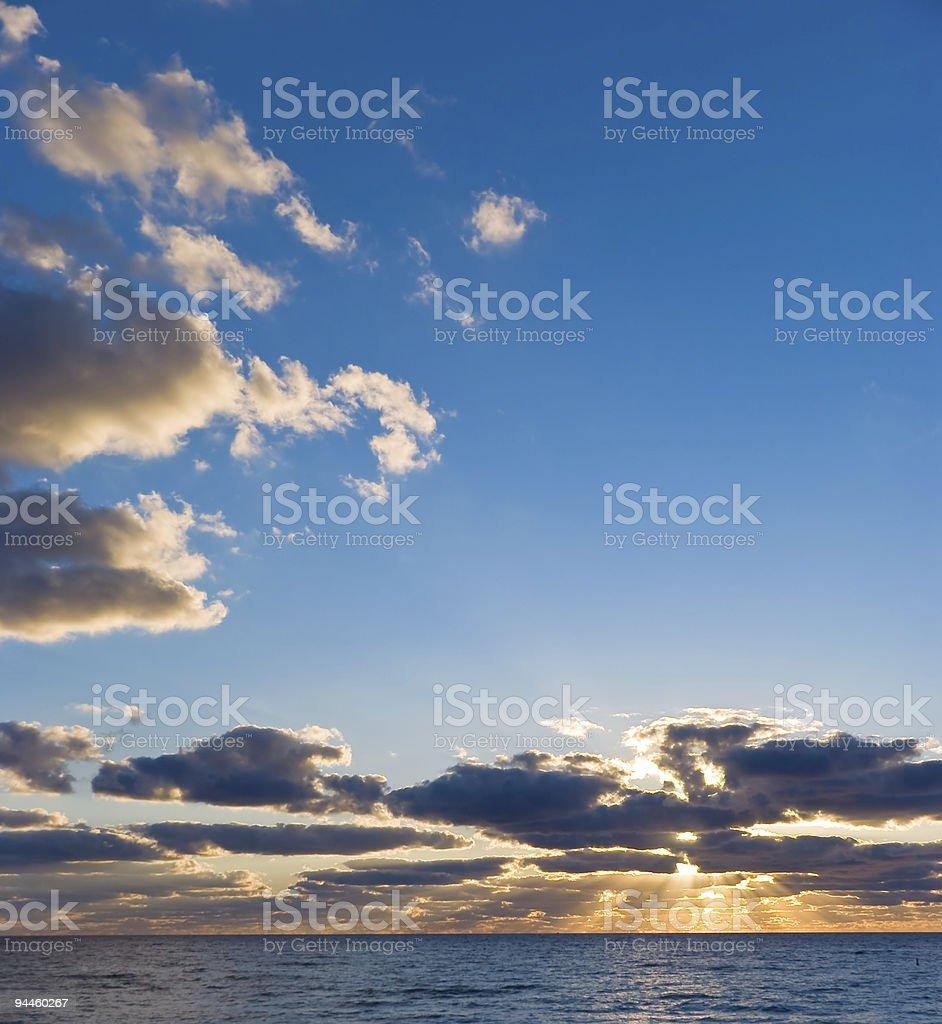 Sunrise on Miami Beach royalty-free stock photo