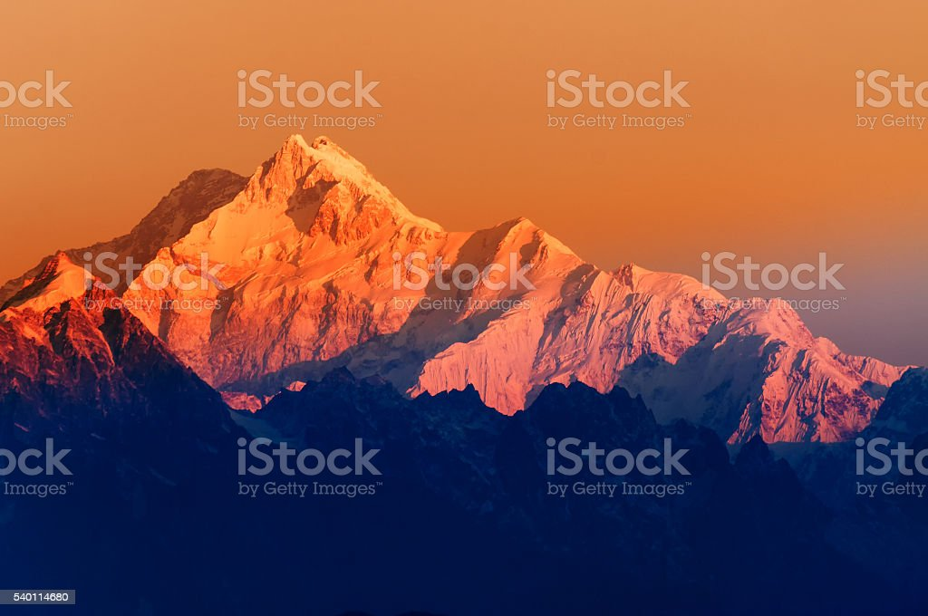 Sonnenaufgang auf Mount Kanchenjugha, im Morgengrauen, Sikkim – Foto