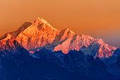 istock Sunrise on Mount Kanchenjugha, at Dawn, Sikkim 543183018