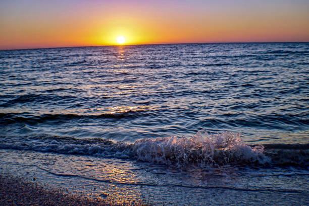Sunrise on Sanibel Beach stock photo