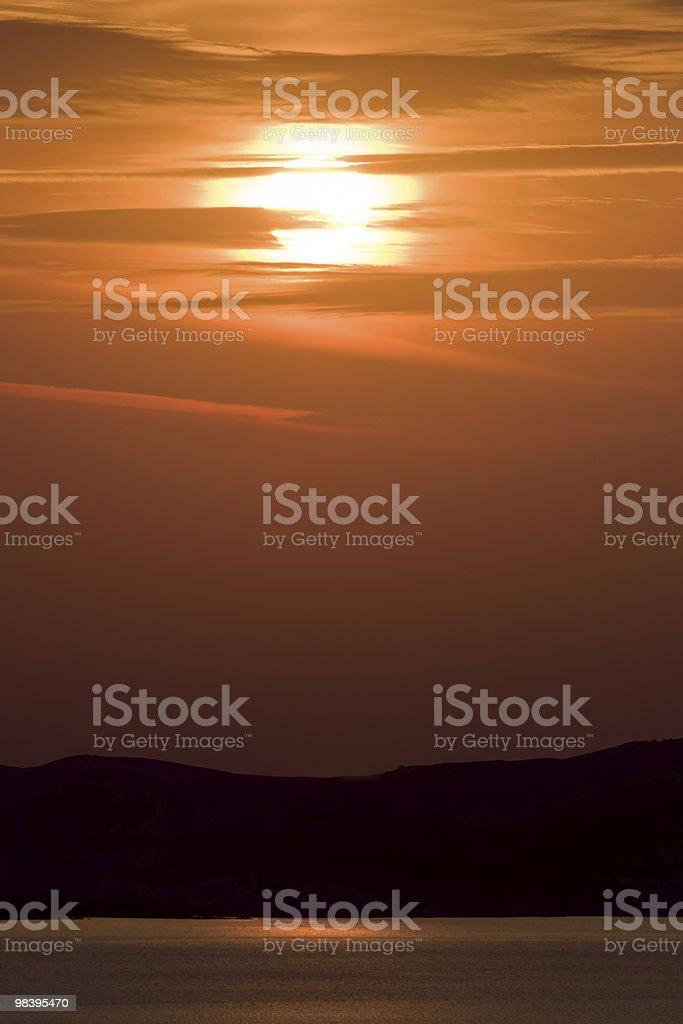 Sunrise on sea royalty-free stock photo