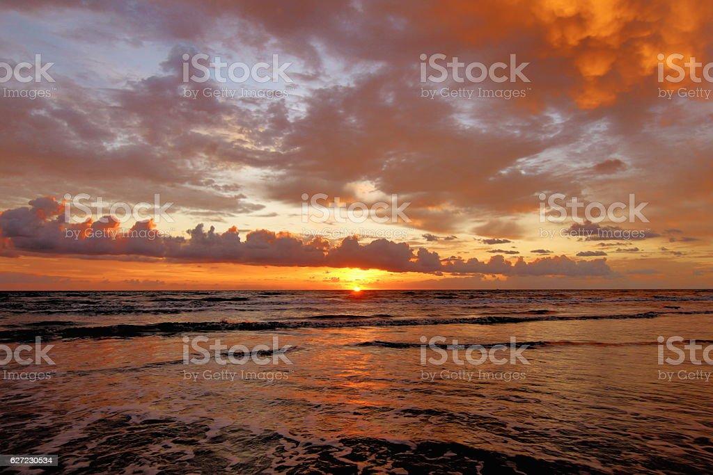 Sunrise on South Padre Island, Texas USA stock photo