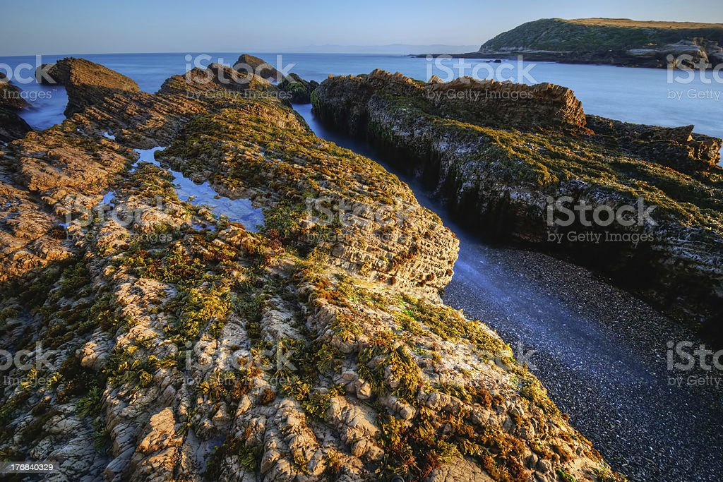Sunrise on Spooners Cove stock photo