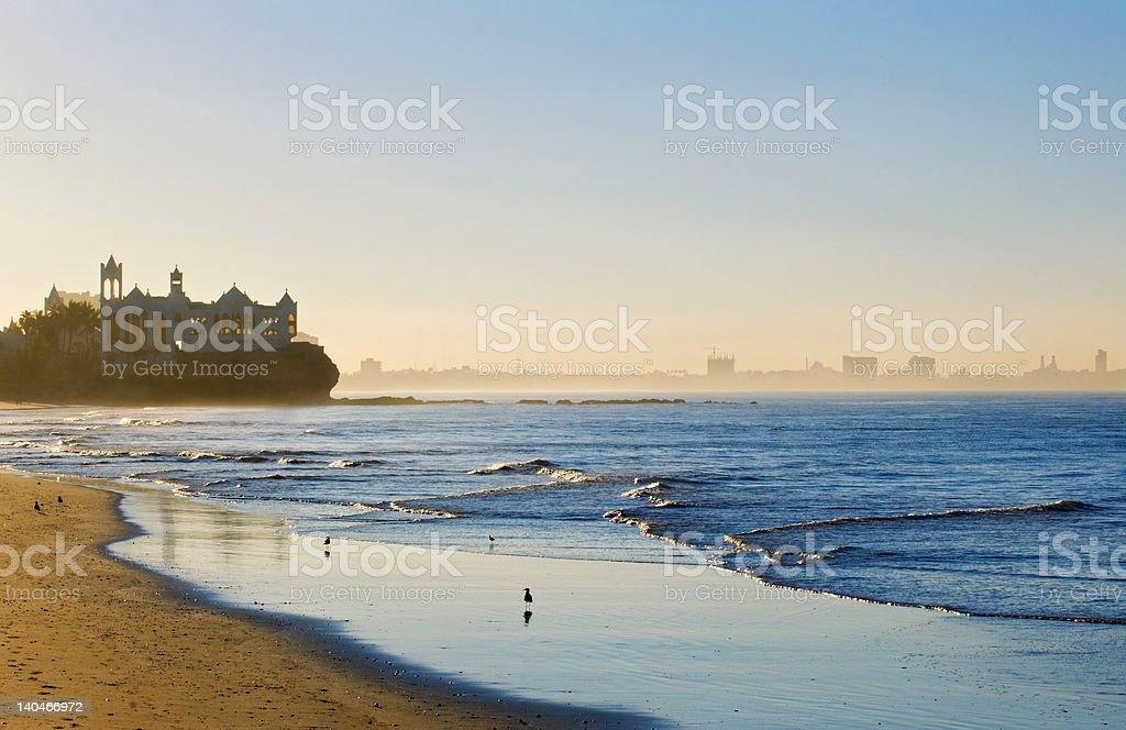 Sunrise on the Beach Horizontal stock photo