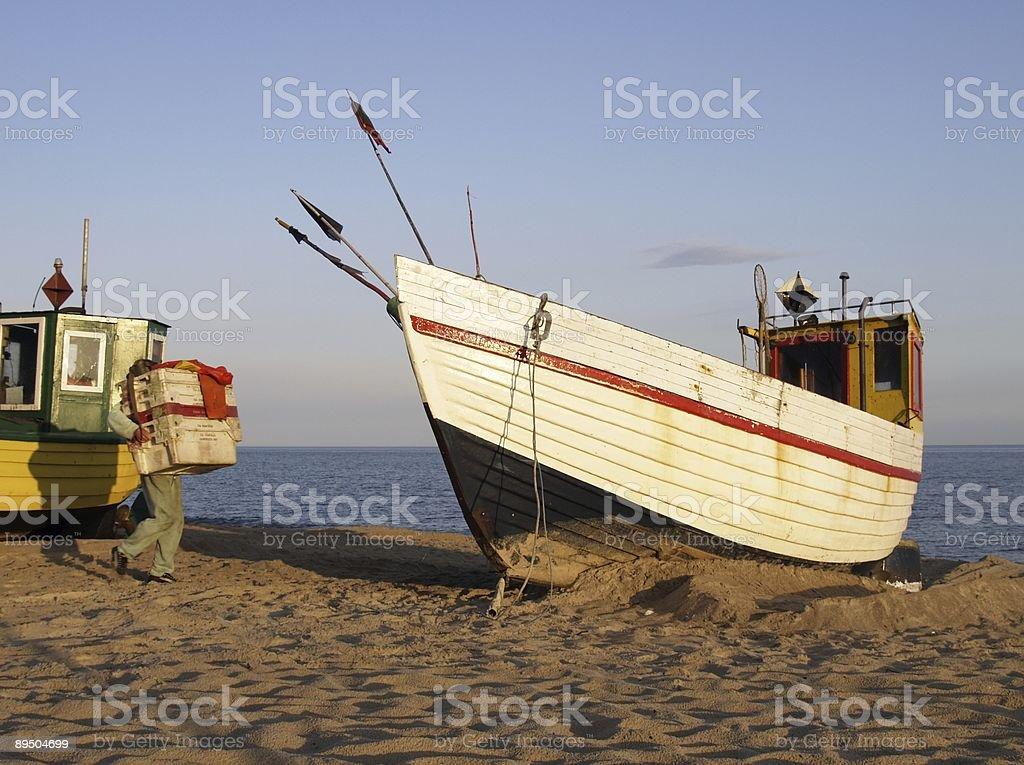 Alba sulla spiaggia foto stock royalty-free