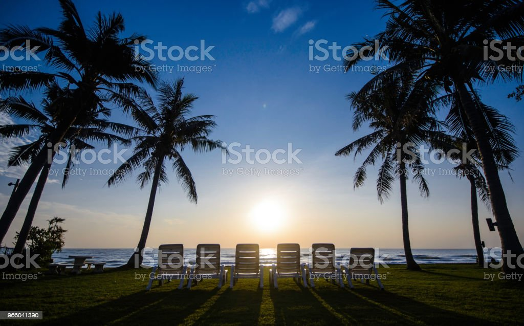 Sunrise on the beach - Royalty-free Asia Stock Photo