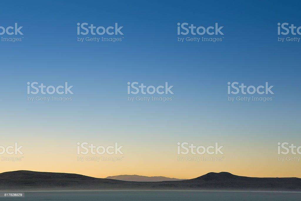 Sunrise on the Black Rock Desert stock photo
