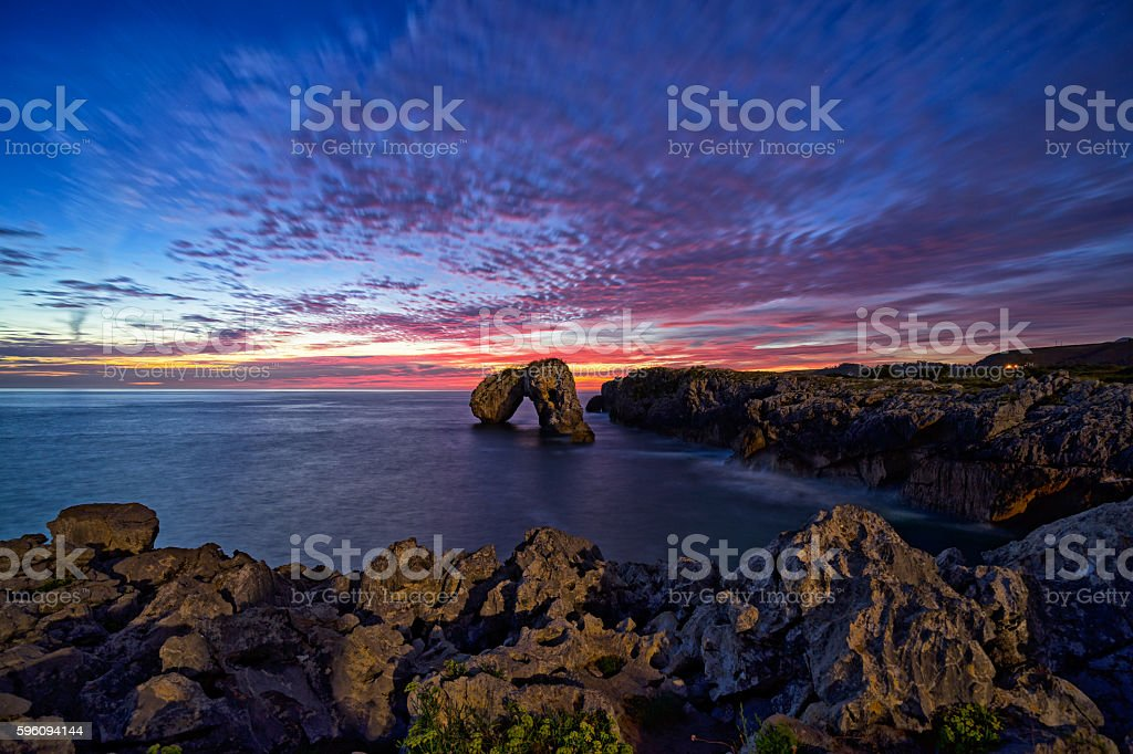 Sunrise on the cliff royalty-free stock photo