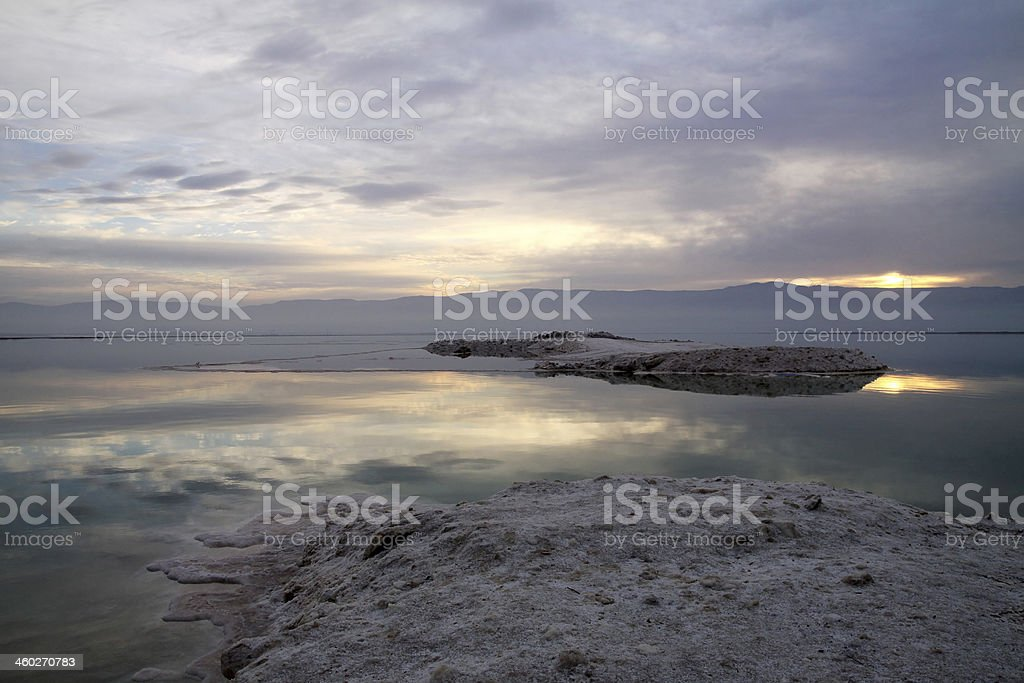 Sunrise on the Dead Sea royalty-free stock photo