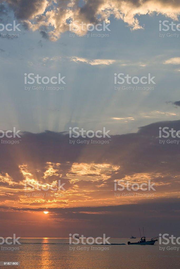 Sunrise on the East Cape, Baja California Sur royalty-free stock photo