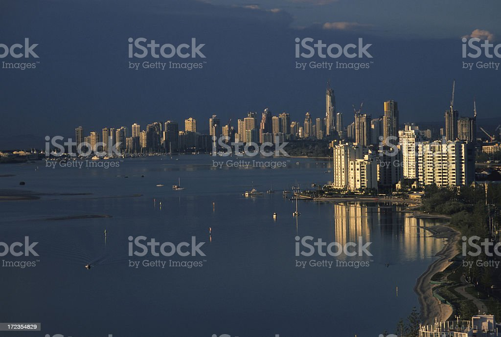 Sunrise on the Gold Coast royalty-free stock photo