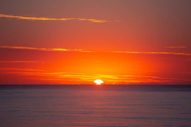 Sunrise on the Gold Coast, Queensland stock photo