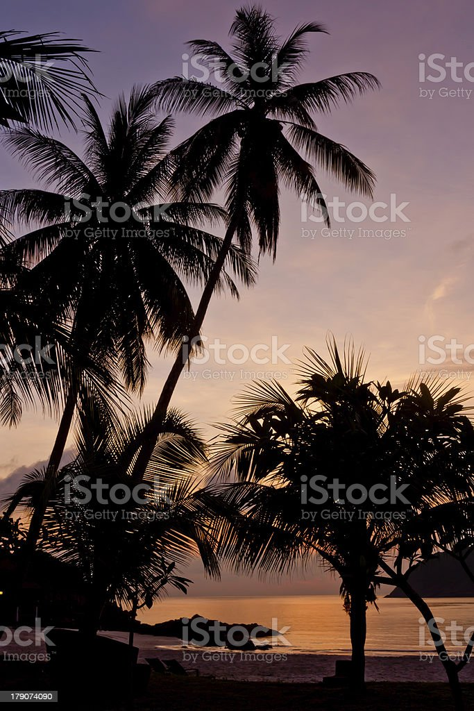 Sunrise on the island of Redang royalty-free stock photo