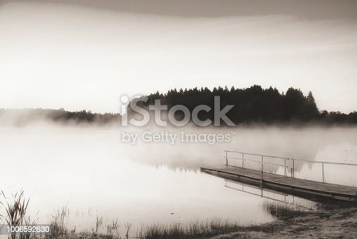 Sunrise on the Kaitra lake, Latgale region, Latvia, Europe.