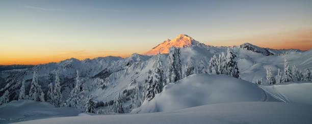 Sunrise on the Mountains stock photo