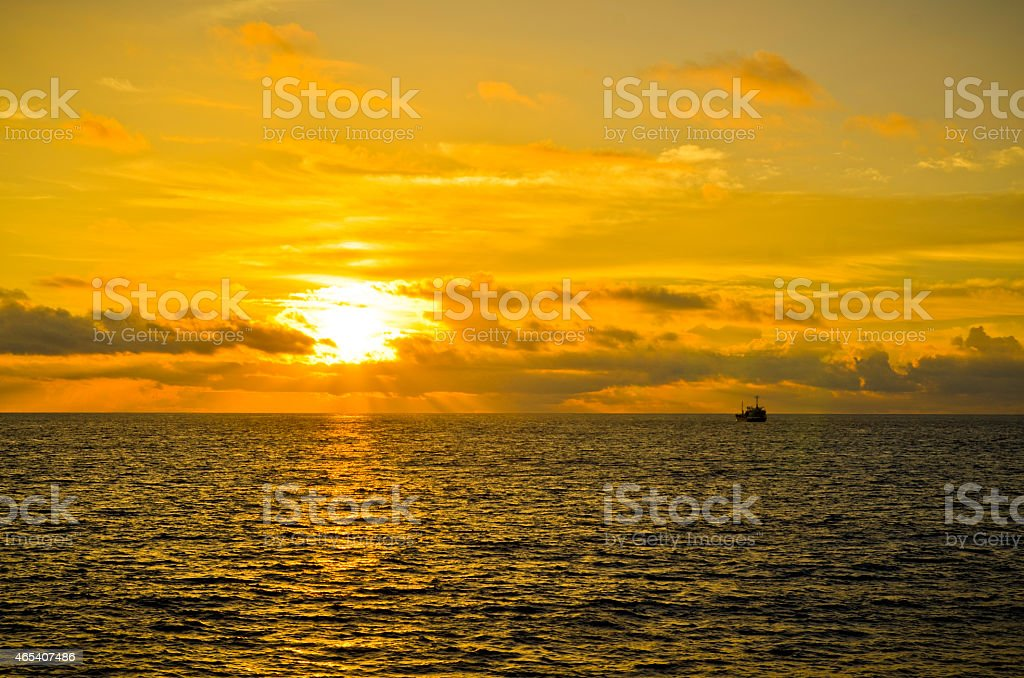 太平洋の日の出 ストックフォト